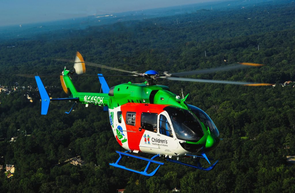 Metro will be showcasing two EC145e helicopters at AMTC, operated by GundersenAIR and Children's Healthcare of Atlanta. CHOA Photo