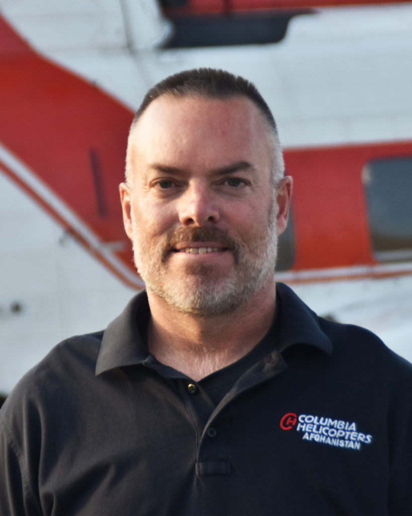Corey Brekke, the 2020 recipient of HAI's Excellence in Helicopter Maintenance Award, has been working in Afghanistan for Columbia Helicopters for the last eight years. HAI Photo