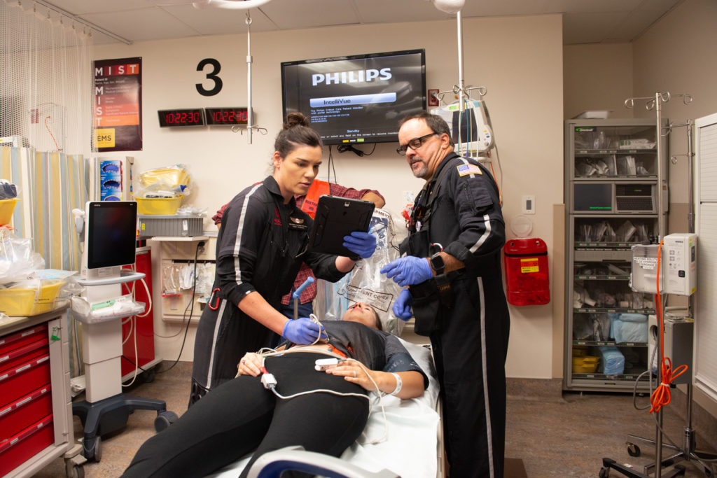 AirMed is looking at new ways to respond to MCIs, such as sending medical crews to help in the emergency room setting. Dan Megna Photo