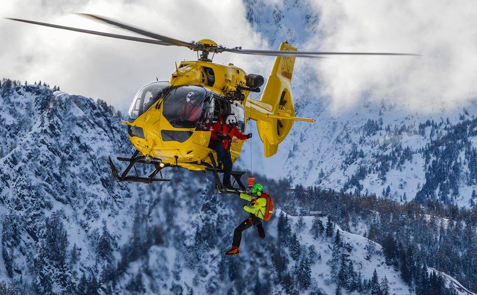 Airbus EC145 HEMS mission in the Alps. Photo submitted by Alberto Betto
