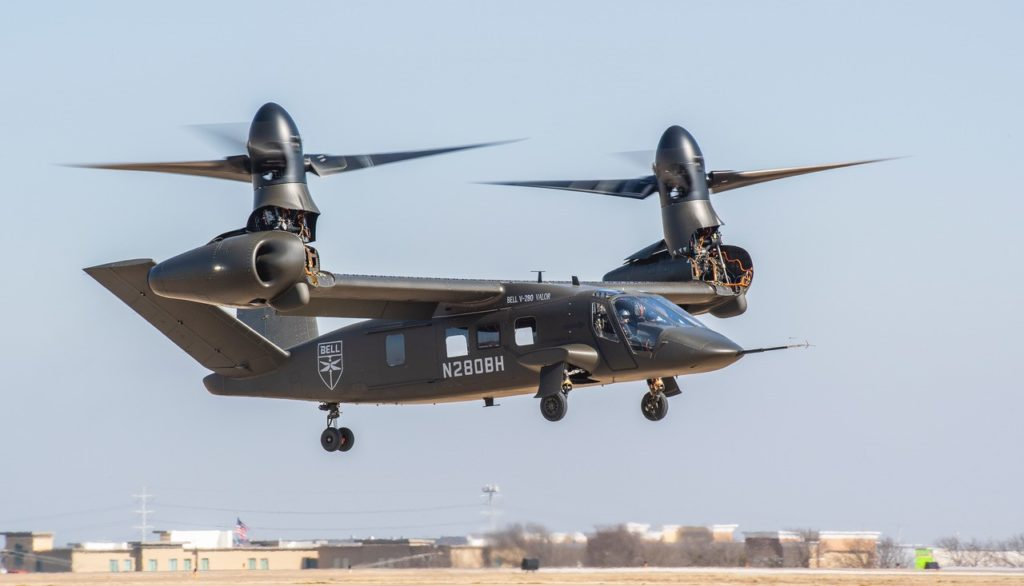 Bell has now recorded more than 150 flight hours on its V-280 Valor. Bell Photo