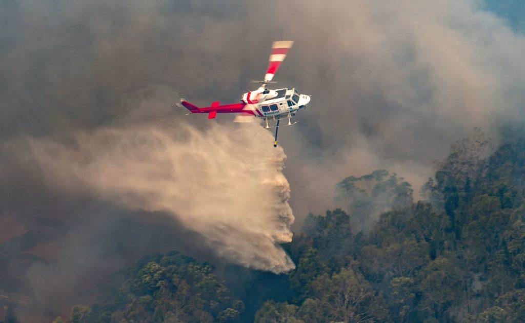 Резултат с изображение за australia fires helicopter