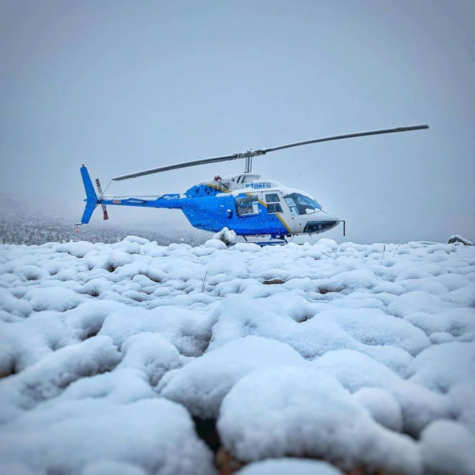 Bell 206B JetRanger in a winter wonderland. Photo submitted by Instagram user @pilotricksa using #verticalmag