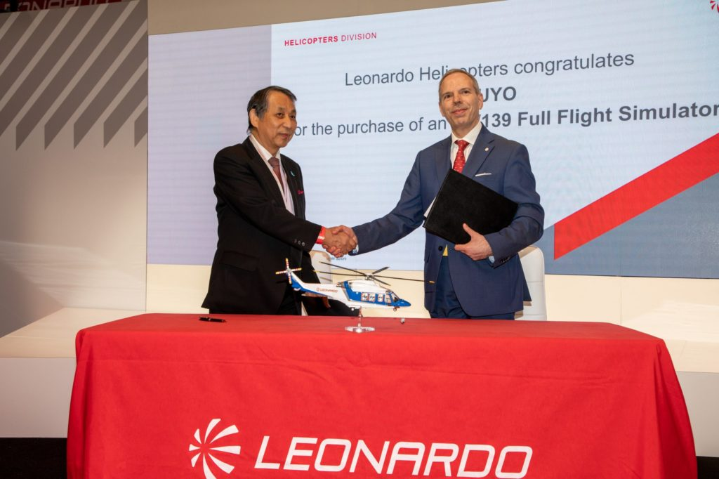 It will be the first AW139 Full Flight Simulator in Japan, combining E-Learning and procedural trainer capabilities to maximize safety and operational effectiveness. Leonardo Photo