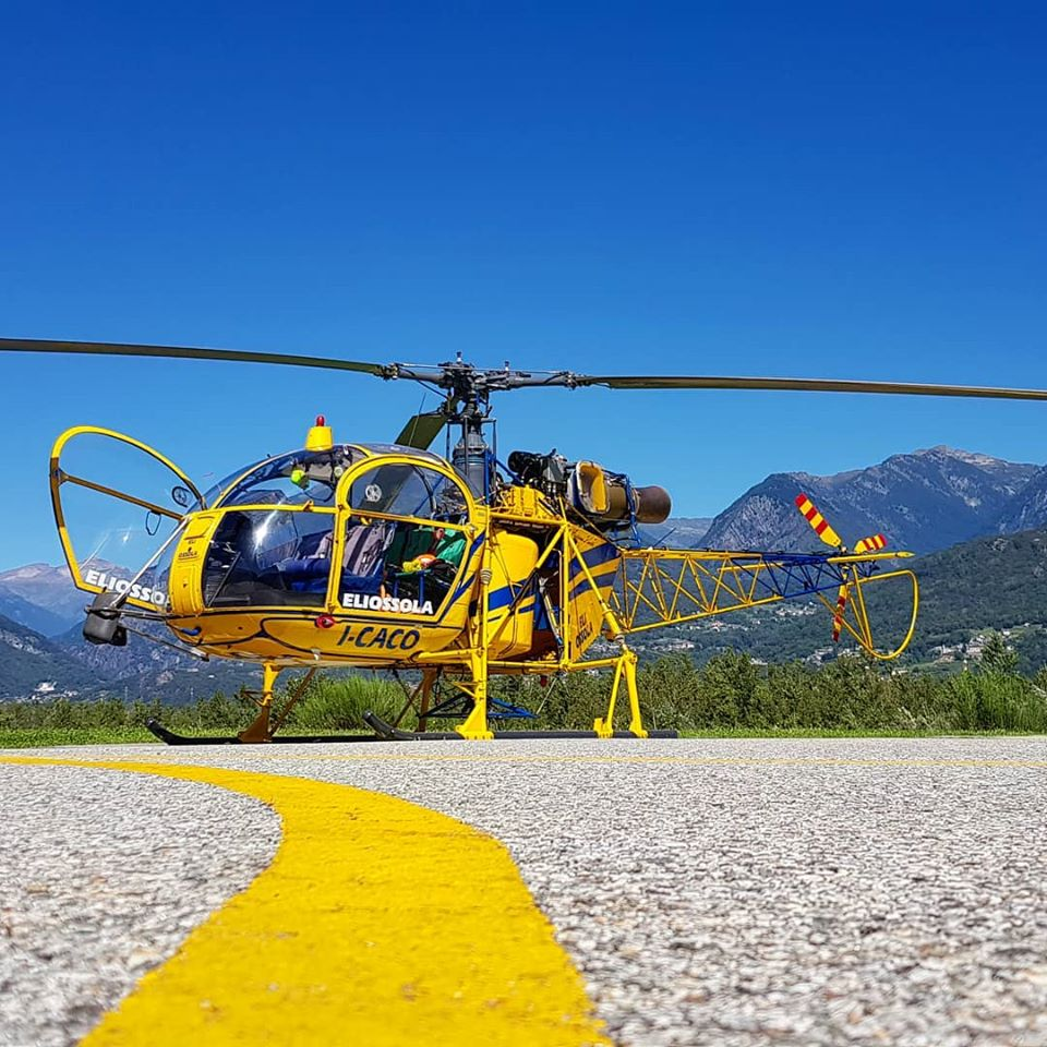 Aerospatiale SA 315B Lama on a clear day in Mergozzo, Italy. Photo submitted by Instagram user @filquare using #verticalmag