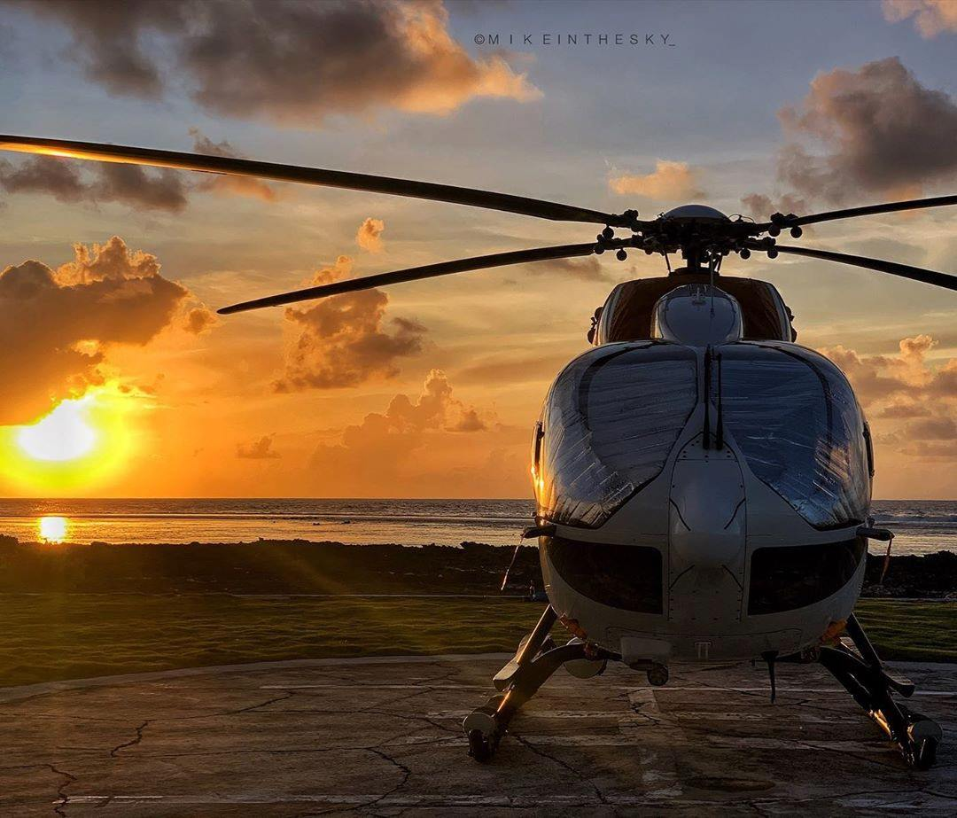 Airbus H145 at sunset. Photo submitted by Instagram user @mikeinthesky_ using #verticalmag
