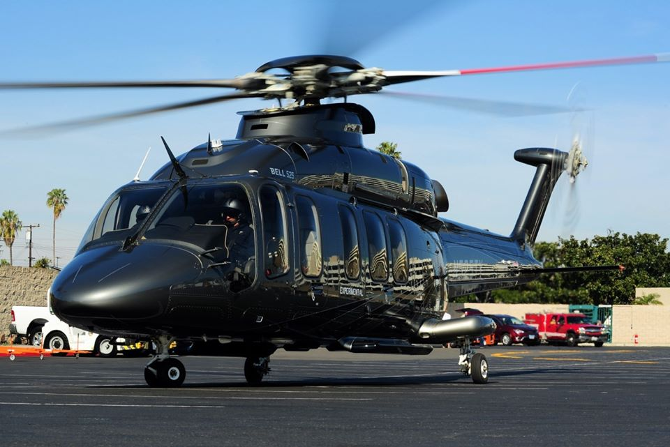 Bell 525 arriving at the Anaheim Convention Center in California for HAI Heli-Expo 2020. Photo by Skip Robinson