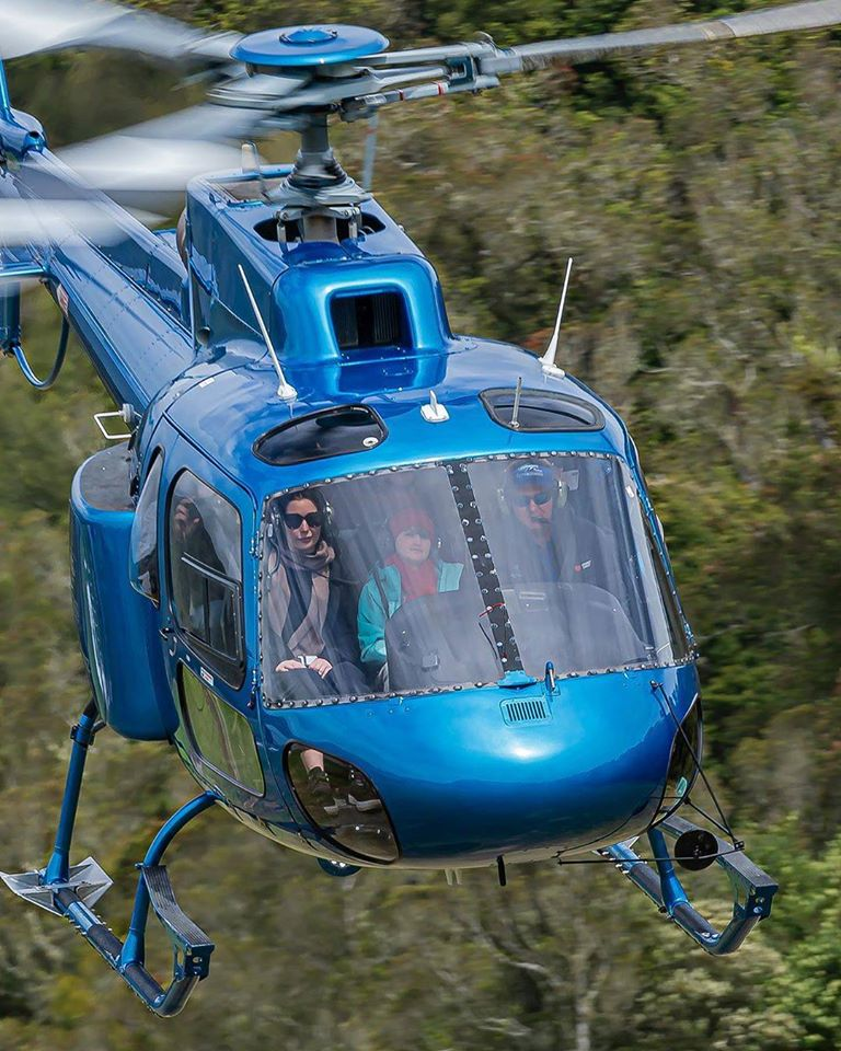 Airbus AS350 departing on a tour through New Zealand's Southern Alps. Photo submitted by Matthew Hayes (Instagram user @helihaze) using #verticalmag