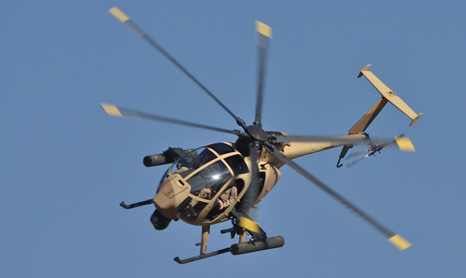 An arbitration court has found that Boeing's AH-6i is a direct derivative of the Mission Enhanced Little Bird. Boeing Photo