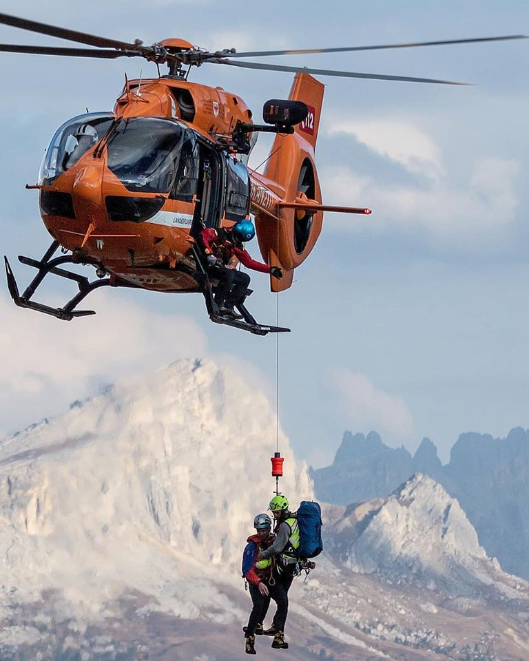 Airbus H145 SAR operations in the Dolomites. Photo submitted by Instagram user @costa_denis_photographie) using #verticalmag