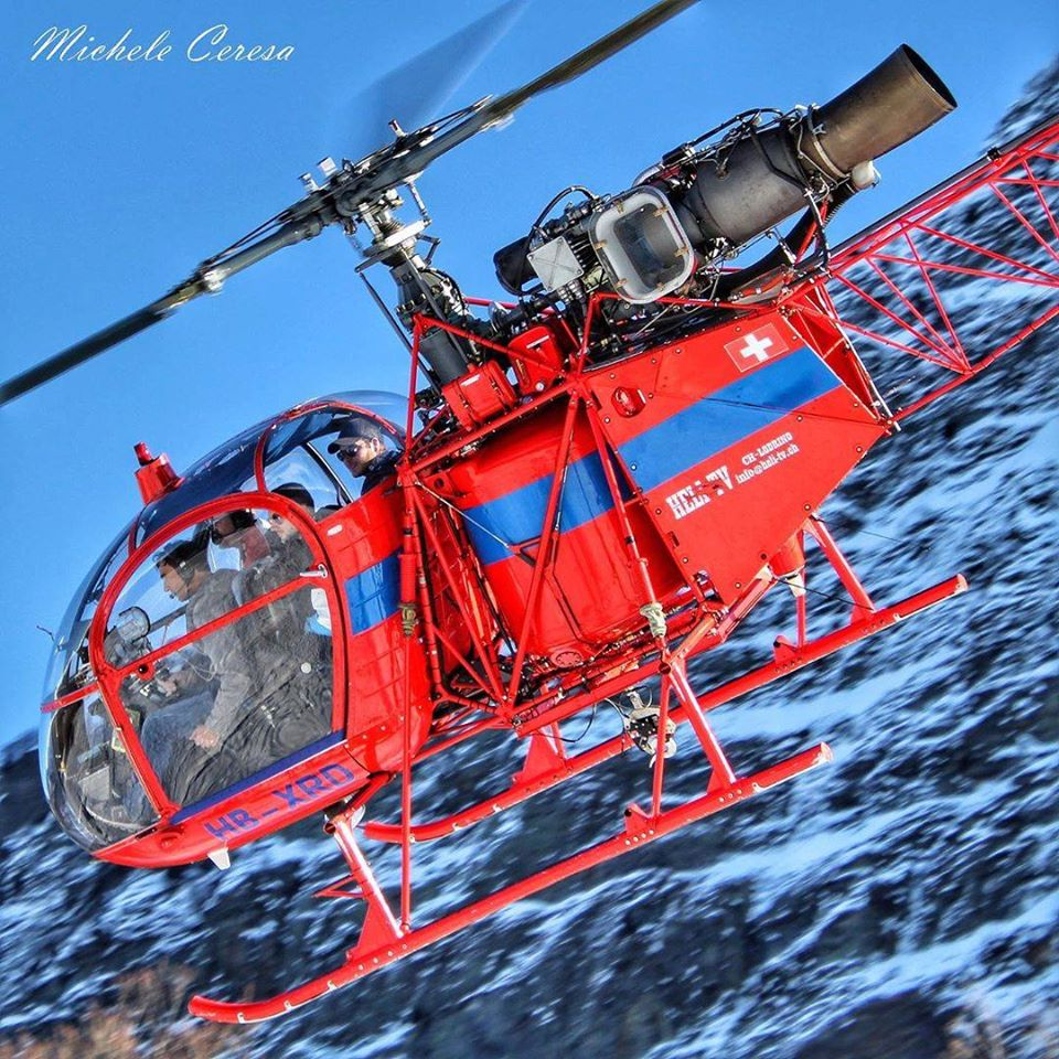 Aerospatiale SA 315B Lama. Photo submitted by Michele Ceresa (Instagram user @helicopterphotosmicheleceresa) using #verticalmag