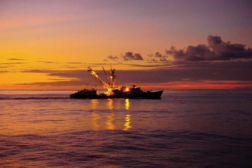 Working from such a remote location in the middle of the Pacific Ocean provided the opportunity to take in some spectacular sunsets. Matthew Hayes Photo