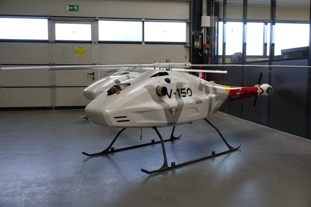 The V-150 can carry a maximum payload of 30 kilograms in its main bay and 12 kilograms in the nose. UMS Skeldar Photo