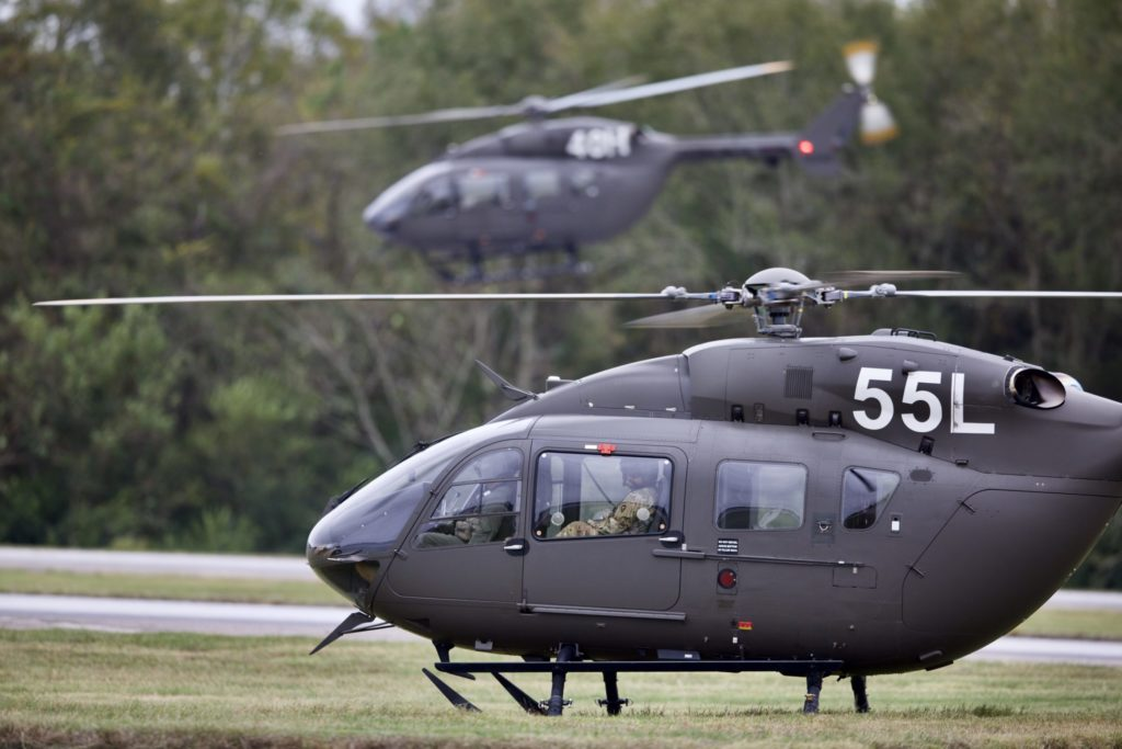 US Army training helicopters