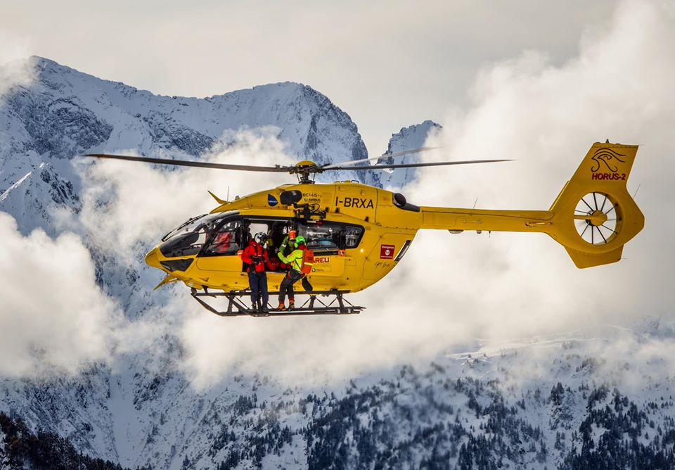 Airbus H145 on a rescue mission in the Italian Alps. Photo submitted by Alberto Betto
