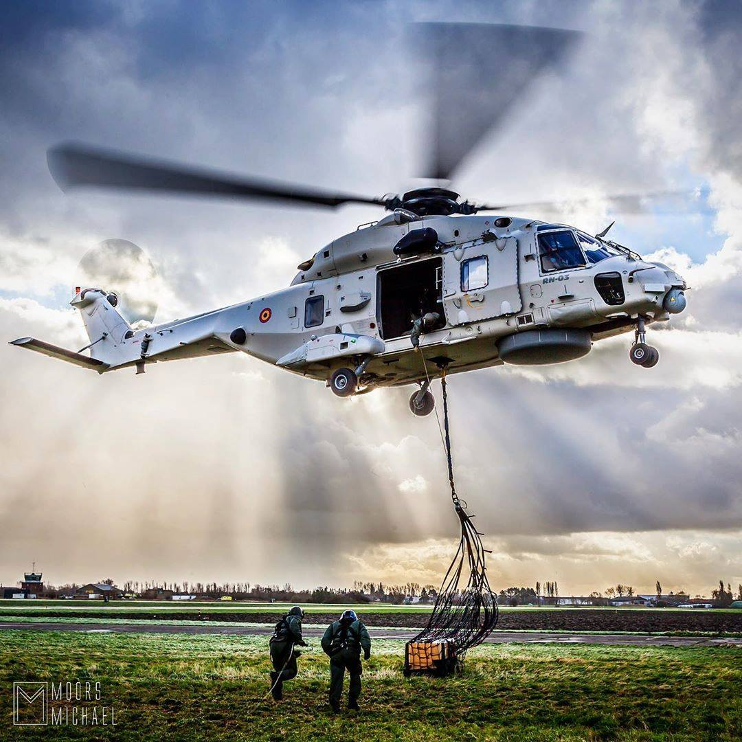 Belgian Air Force NH90 during underslung training. Photo submitted by Michael Moors (Instagram user @stinger309) using #verticalmag