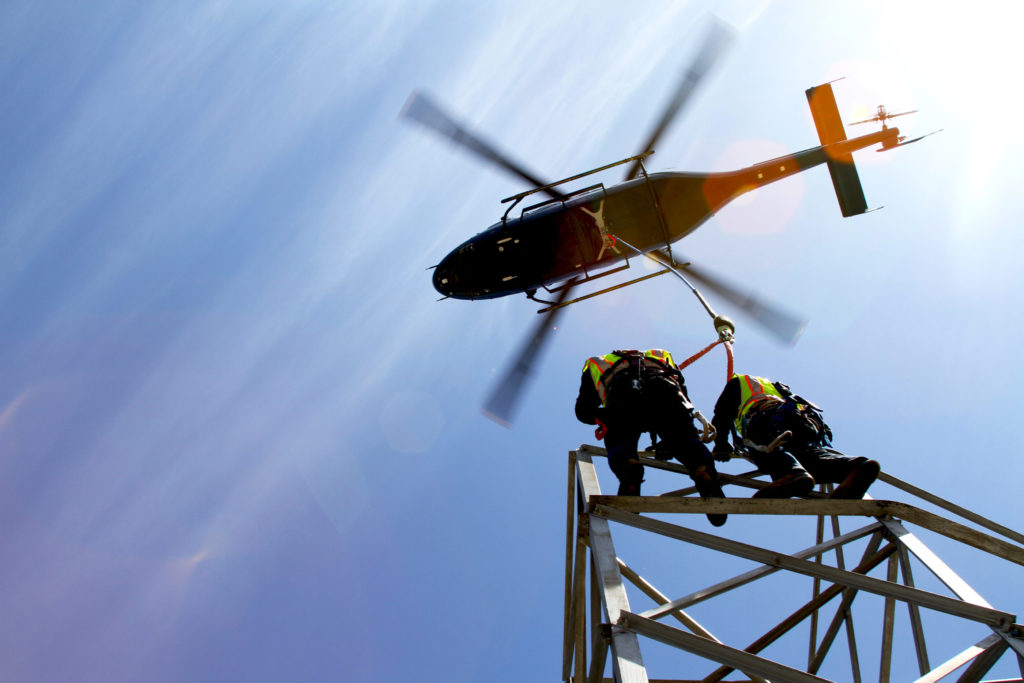 The 429 performs HEC training at PJ Helicopters' Utility Training Facility. Seth Gunsauls Photo