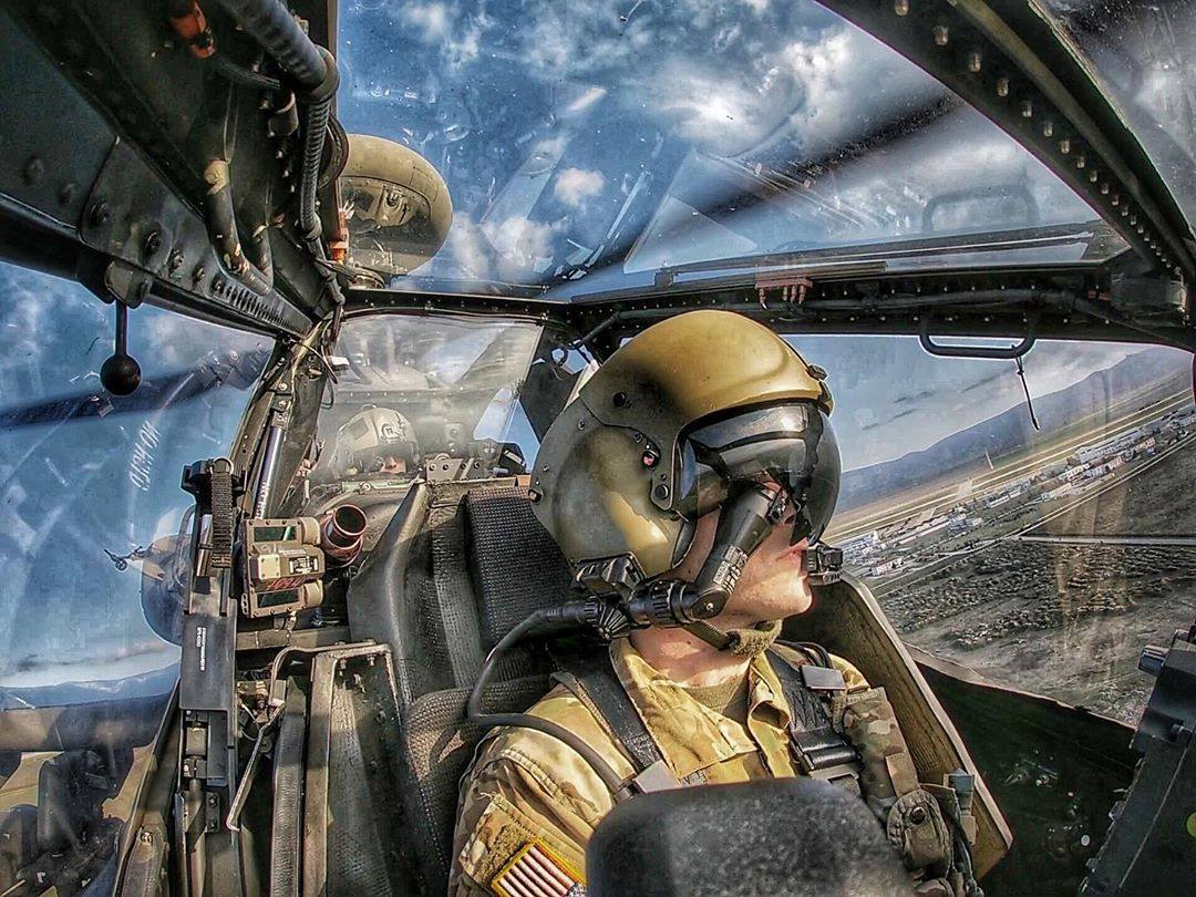 From the cockpit of a Boeing AH-64 Apache. Photo submitted by Instagram user @lee122485 using #verticalmag