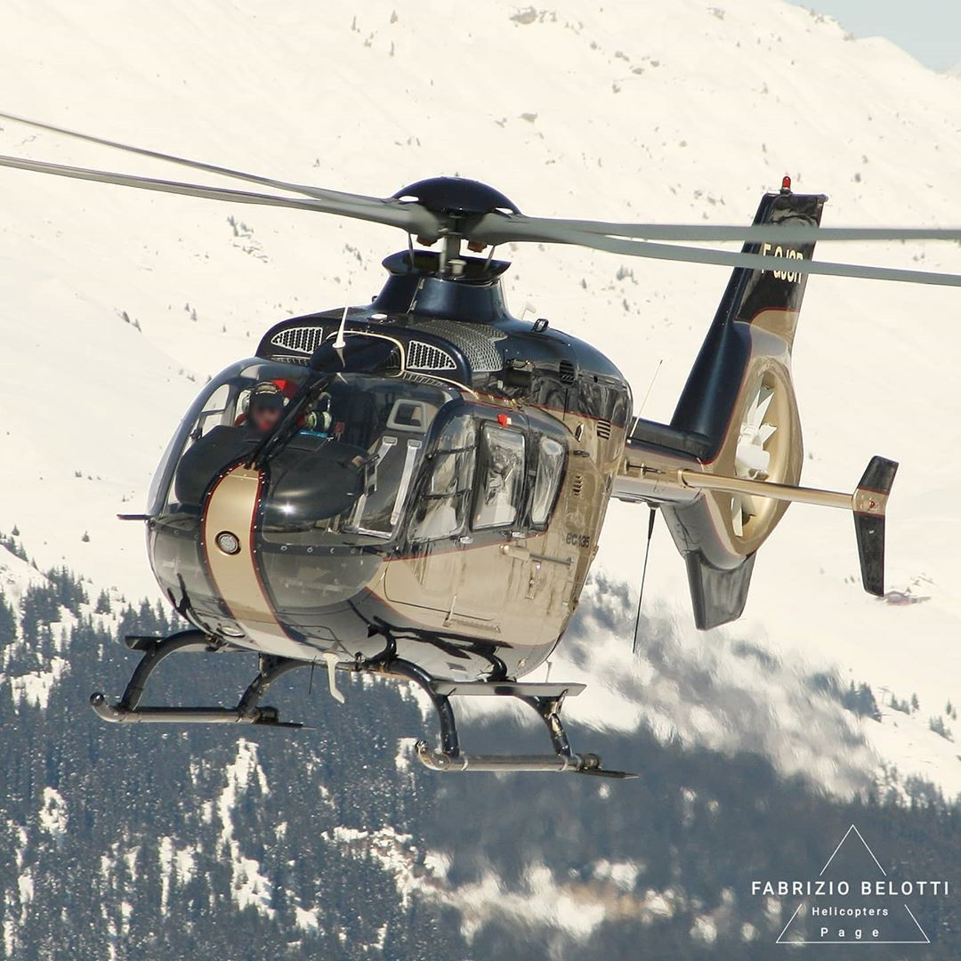 SAF Group Airbus EC135 in the Alps. Photo submitted Fabrizio Belotti (Instagram user @helicopters_page) using #verticalmag