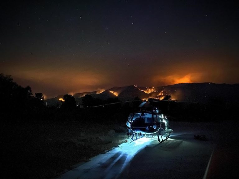 Ely Helitack on the Big Horn Fire in Tuscon, Arizona. Photo submitted by Trevor Needham (Instagram user @trevdogglin)