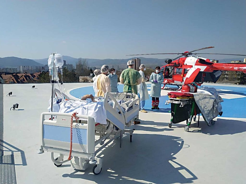 Some operators insinuated policies to not knowingly transport Covid-19 patients by air, opting instead to use ground assets. Rega Photo