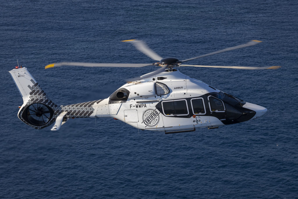 Airbus recorded one order for the newly-certified H160 in the second quarter. Airbus Helicopters Photo