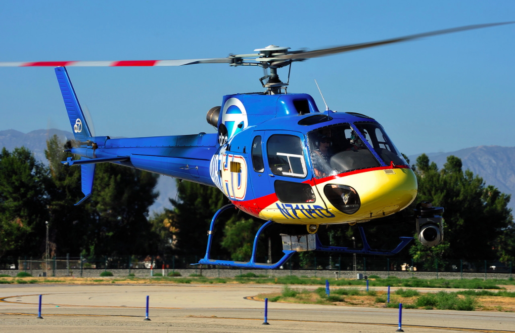 Helinet operates the Airbus AS350 B2 on electronic newsgathering operations for ABC7 News. Skip Robinson Photo