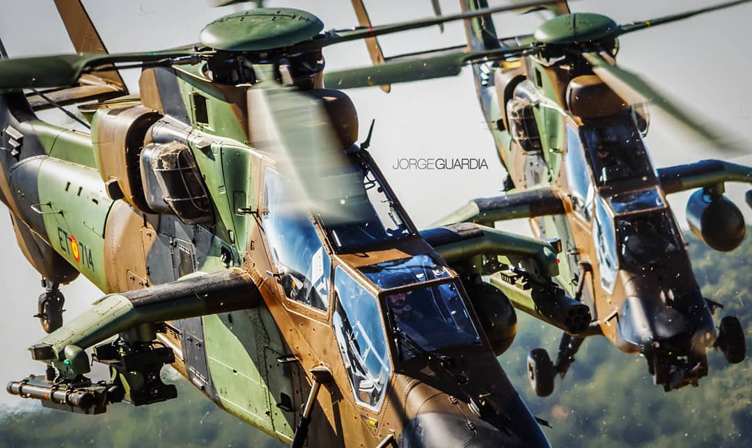 Two Airbus Tigers of the Spanish Army. Photo submitted by Jorge Guardia (Instagram user @jorgeguardia_photo) using #verticalmag