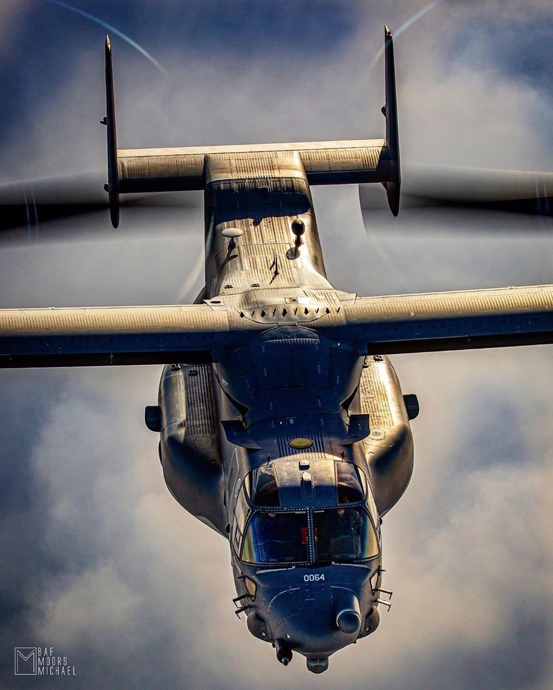 Looking down on a Bell Boeing V-22 Osprey. Photo submitted by Michael Moors (Instagram user @stinger309) using #verticalmag