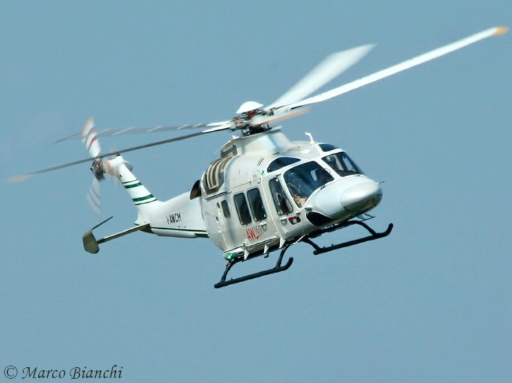 The AW169 is to receive skids as part of a certified kit. Marco Bianchi Photo