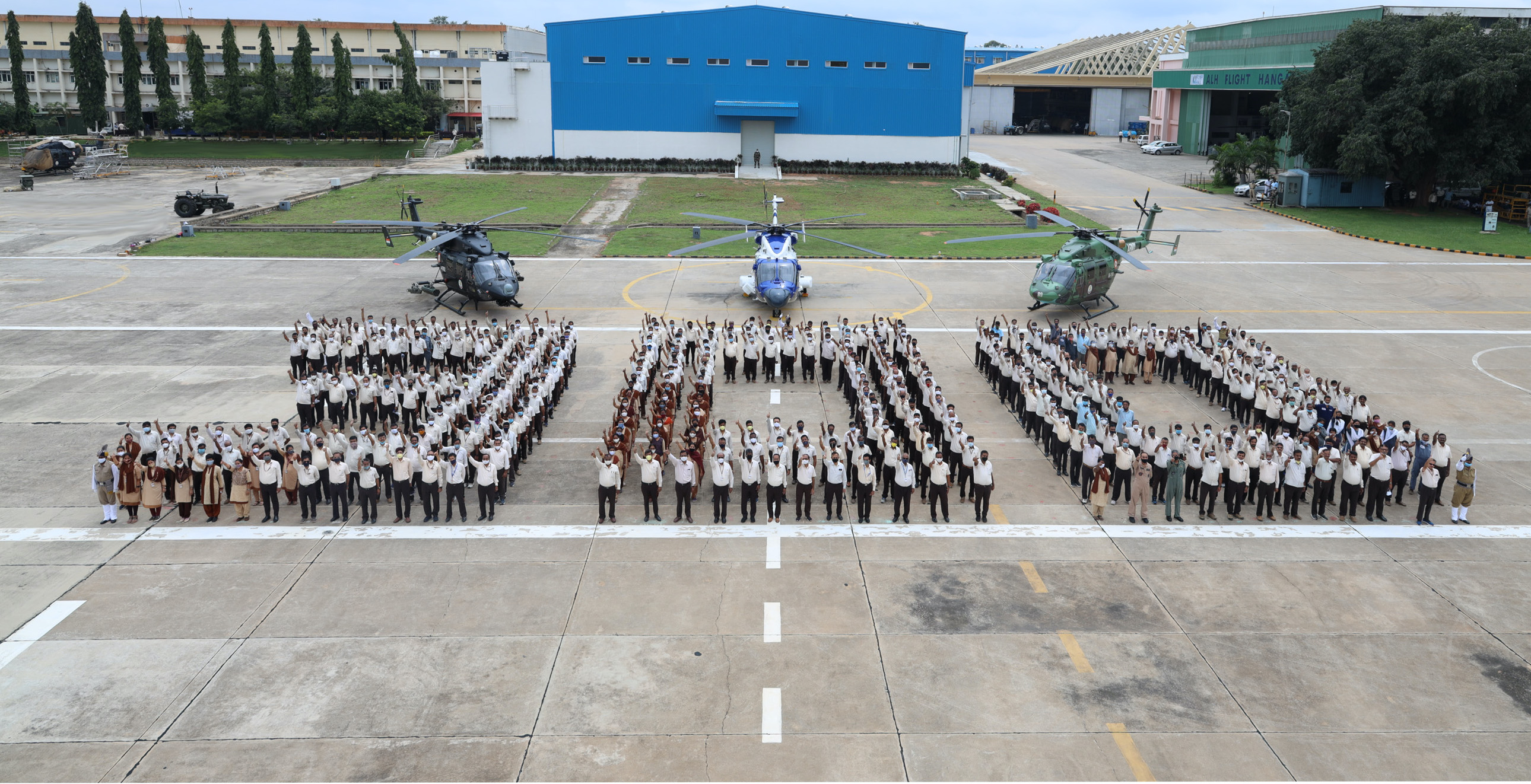 300th Alh Dhruv Rolls Out From Hal Hangar Vertical Mag