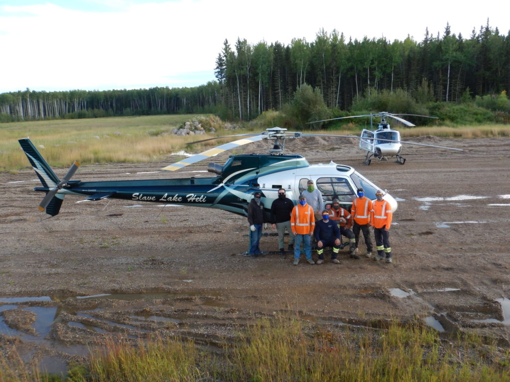 Slave Lake Helicopters had two AS350 B2s working on the project. Slave Lake Helicopters Photo
