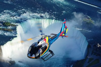 With the Canada/US border remaining closed, heli-tour operators have been hit particularly hard by the Covid-19 pandemic. Niagara Helicopters has adapted to the pandemic by offering tours over Niagara Falls to larger groups that are in the same bubble in the Airbus H130, and smaller groups in the Bell 206B JetRanger. Mike Reyno Photo