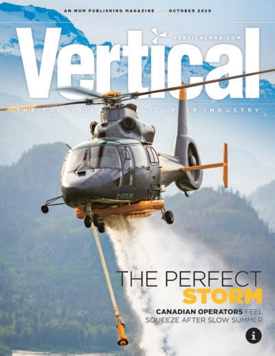 Vertical Magazine example -  the helicopter industry's premier and most trusted magazine.