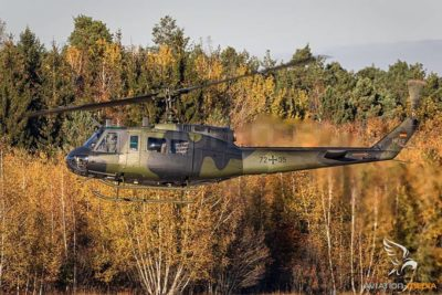 Awesome fall capture of this UH-1D 'Huey'. Photo submitted by Instagram user @aviationmedia_alexnieder using #verticalmag