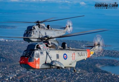 Throwback to the CH-124 Sea King's final photo flight. Photo submitted by Instagram user @hazers_flightline using #verticalmag