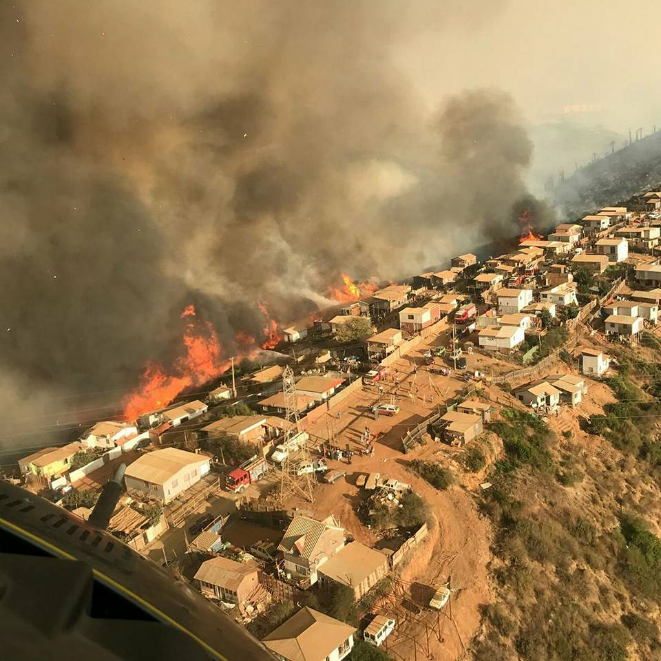 aerial firefighting in Chile