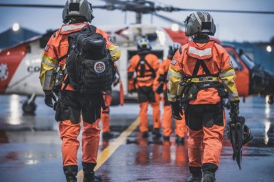 A Sikorsky MH-60T Jayhawk crew at U.S. Coast Guard Air Station Kodiak, Alaska. Photo submitted by Instagram user @646_photography using #verticalmag