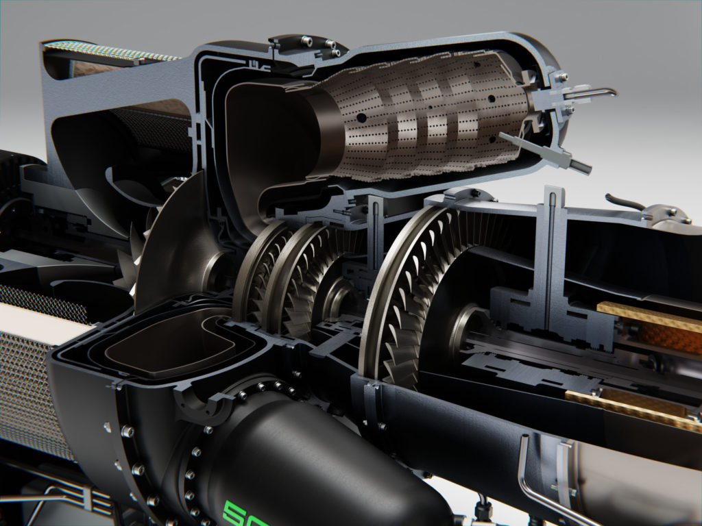 Hill Helicopters GT50 engine
