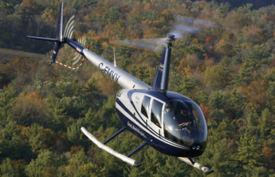Great Lakes Helicopter is currently using two Robinson R44s to offer nine daily flights between Hamilton, Ontario, and Buffalo, New York. Mike Reyno Photo