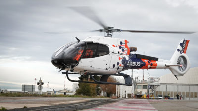 The only modifications made to the H130 are those required to test the new technologies. Airbus Photo