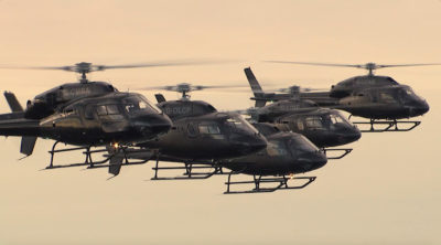 I'm a Celebrity Helicopter Formation