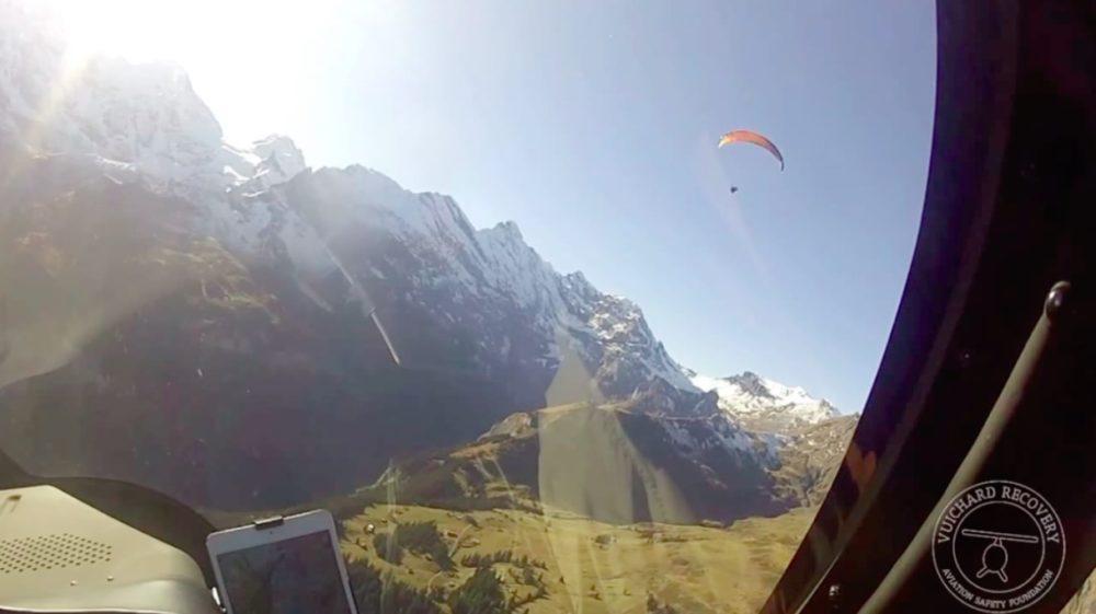 Paraglider Near Collision
