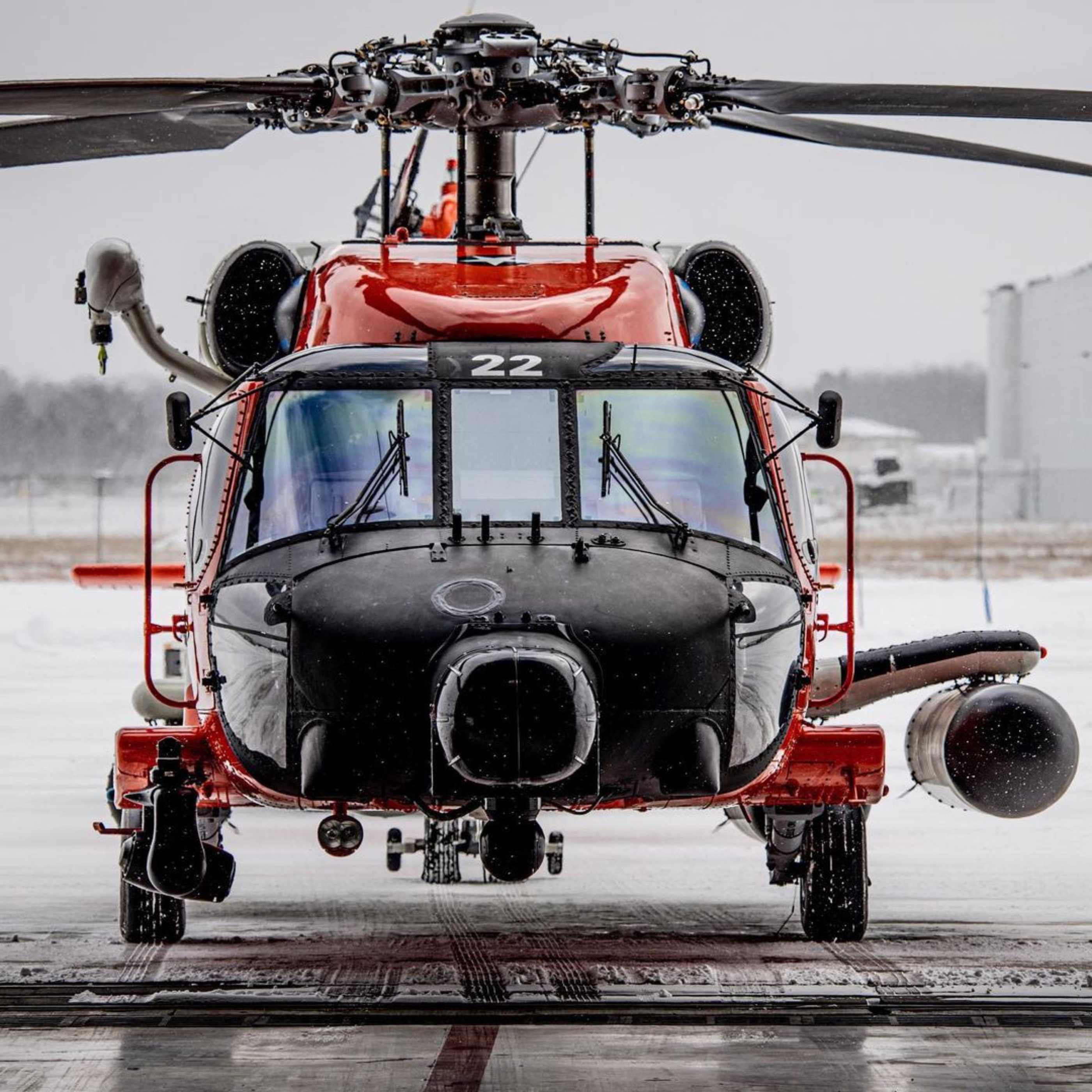 An extra-shiny U.S. Coast Guard MH-60T Jayhawk. Photo submitted by Instagram user @wryan.webb using #verticalmag