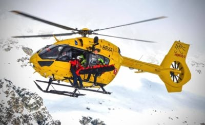 Airbus H145 during a rescue mission in the Italian Alps. Photo submitted by Alberto Betto via Facebook