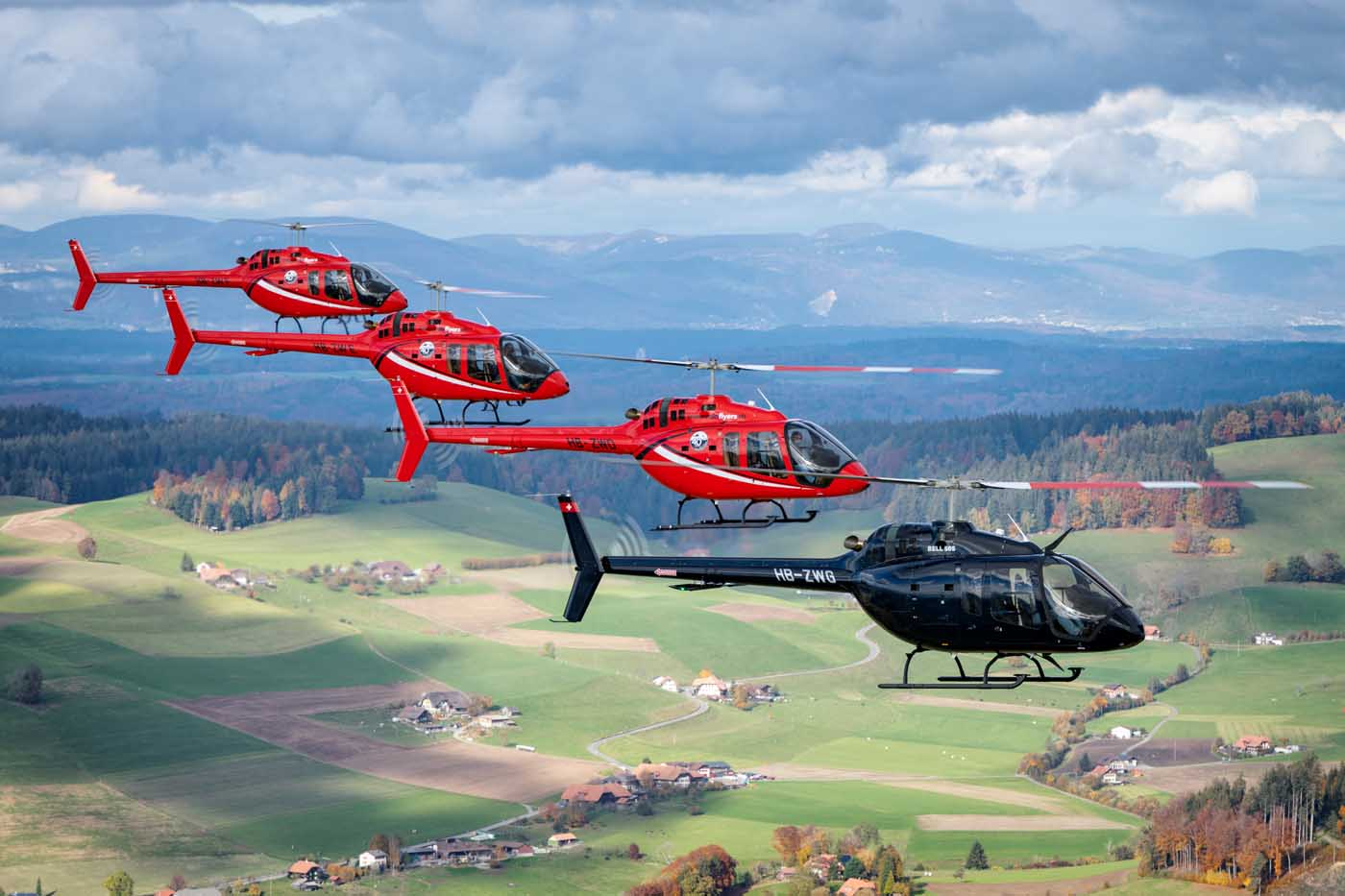 Mountainflyers Bell 505 helicopters
