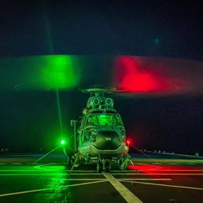 Royal Netherlands Air Force AS-532U2 Cougar during night operations. Photo submitted by Instagram user @hagelschlag using #verticalmag