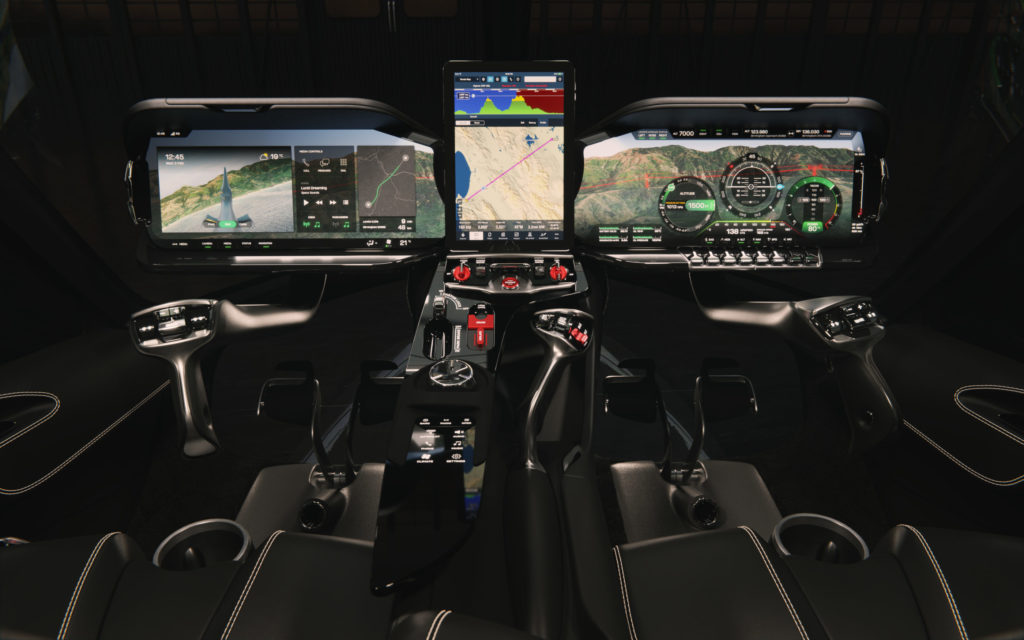 Hill Helicopters HX50 digital cockpit