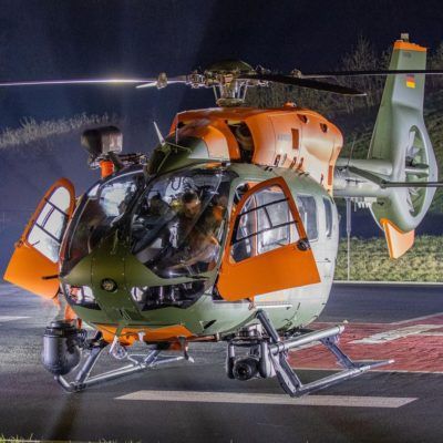Bundeswehr Airbus H145 LUH SAR helicopter. Photo submitted by Instagram user @aviation_jb using #verticalmag