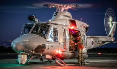 The Royal Air Force's search-and-rescue squadron, 84 Squadron, conducting a night training sortie out of RAF Akrotiri with a Griffin HAR2. Photo submitted by Lee Matthews via Facebook